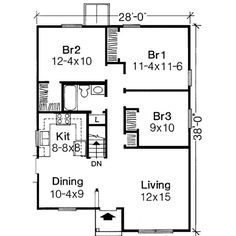 1000 sq ft house plans 3 bedroom - Google Search