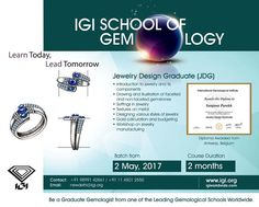 Be a #JewelryDesignGraduate at Delhi with #IGISchoolofGemology. Course starts from 2nd May, 2017 Call +91 9899142861 / +91 11 45012550 #IGI