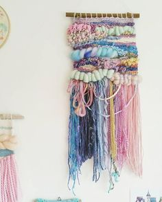 Hello beauty! This fairytale custom wall hanging is leaving for its new home tomorrow. The buyer wanted gold and sequins in this piece, talk about kindred spirits! Love her idea. Get in touch to start planning your own whimsical weaving