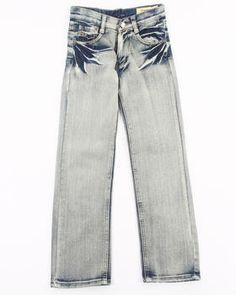 Buy BLUE WASH BLEACHED JEANS (8-20) Boys Bottoms from Arcade Styles. Find Arcade Styles fashions  more at DrJays.com