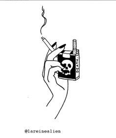 cigarro muerte ilustraciones para tatuajes