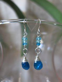 Blue Apatite Earrings. www.sarahwalkerjewelry.com