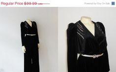CLOTHING SALE Vintage Jumpsuit 70s Tom by 2sweet4wordsVintage, $74.99