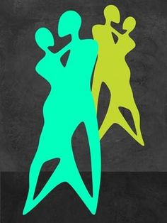 Green Dance Poster Print by Felix Podgurski Art by Room People Dance Modern Pop Figurative Contemporary Dining Performing Arts