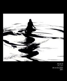 Dissolve II - Ink Wash Drawing - Clara Lieu