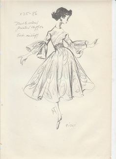 FOUR ORIGINAL VOGUE RICCI FASHION STATS FROM THE 50'S