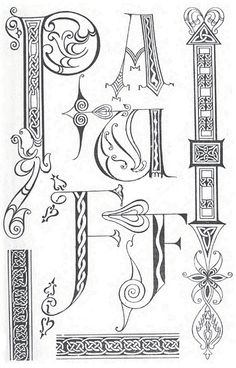 decorative letters and borders 9th century by design decoration craft via flickr