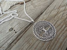 Large Celtic tree of life necklace handmade in sterling silver by Billyrebs on Etsy