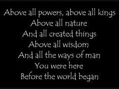 Above All (with lyrics)
