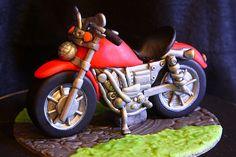 Amandas Cake Art Motorbike Topper