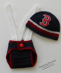 Crochet Baby Baseball Sports Hat Diaper by handmadebychhunneang, $34.95