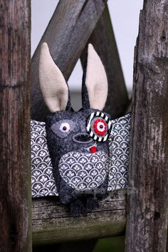Felt softie - Evil Emil the Bat