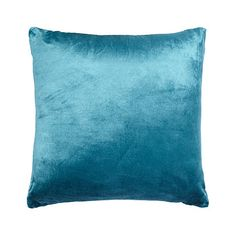 Debenhams Teal velvet cushion- at Debenhams.com