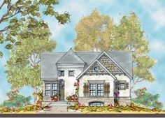 ePlans French Country House Plan – Private Master Foyer and Walk-In Closet – 1545 Square Feet and 3 Bedrooms from ePlans – House Plan Code HWEPL76223