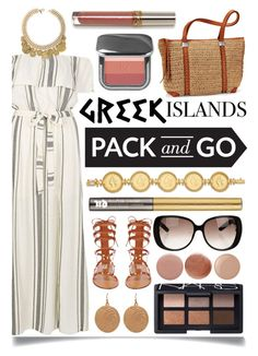 """""""Pack and Go: Greek Islands"""" by ittie-kittie ❤ liked on Polyvore featuring River Island, Valentino, Lauren Ralph Lauren, NARS Cosmetics, Urban Decay, Gucci, Tom Ford, Nails Inc., Essie and Packandgo"""