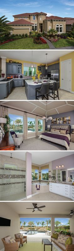 The Grenada by David Weekley Homes in FishHawk Ranch is a 4 bedroom, 4 bath floorplan that features an open kitchen and family room layout, tray ceilings and a lanai. Custom home upgrades include a pool bath, french doors in the study or a shower instead of a tub in the owners retreat.