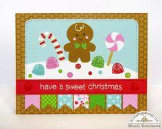 Doodlebug Design Inc Blog: Sugar Plum Gingerbread Christmas Card by Mendi Yoshikawa