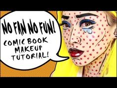 Comic Book Makeup Tutorial 美式漫畫仿妝教學 - YouTube