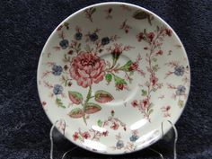 "$14.99 Johnson Bros Rose Chintz Large Saucer for Cream Soup Bowl or 7"" - EXCELLENT! #JohnsonBros"