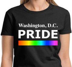 WASHINGTON D.C. PRIDE Lgbtq Pride T Shirt Equality by ALLGayTees