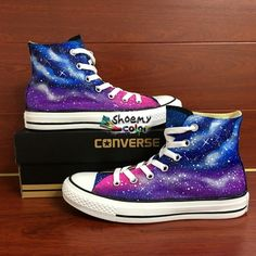 Mens Converse All Star Husky Hand Painted Dog High Top Canvas Sneakers Cool Converse, Custom Converse, Custom Shoes, Converse Shoes, Women's Shoes, Star Shoes, Galaxy Shoes, Hand Painted Shoes, Fresh Shoes
