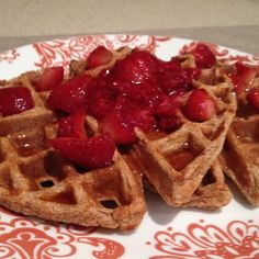These are amazing!  They can be made into waffles or pancakes and are packed with protein! So yummy!