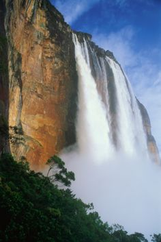 The Angel Falls, named after its discoverer James Crawford Angel, is the world's highest waterfall. It falls from a height of 979 meters and has a plunge of about 807 meters falling to meet the Churun river. It is located in the Bolivar state of Venezuela.