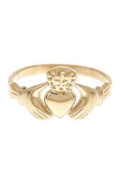 Claddagh Ring - I love the symbolism behind claddagh rings... heart for love, crown for loyalty, and hands for friendship. I have a beautiful silver and emerald one from my grandparents <3