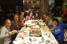 Mount Saint Mary College students are back from Shanghai, China! Here is a photo from the trip of a Group Hot Pot dinner. College School, College Students, Hot Pot, Shanghai, Trips, Mary, Study, China, Group
