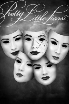 Prettylittleliars Poster Standup 4inx6in black and white