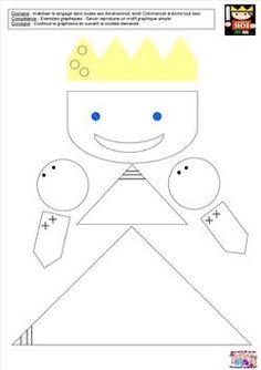 Le tout petit roi - graphisme dans le roi, la reine, le soldat et le prince
