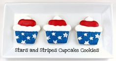 American Flag Cookie Cups