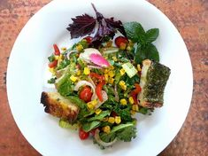 Napa Farmhouse 1885™: Favorite BBQ Recipes Roundup Farmer's Market Salad  #SummerSoiree #Corn #Pesto #Salad #Grilling