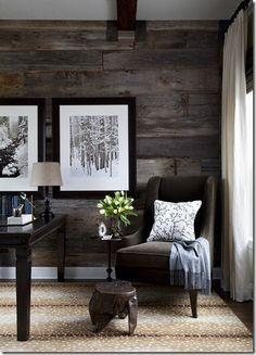 Office - reclaimed wood