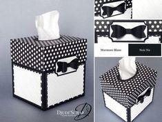 the original scrapbox craft storage Cardboard Storage, Craft Storage, Kleenex Box Crafts, Scrapbook Box, Scrapbooking, Plastic Canvas Tissue Boxes, Cute Box, Origami Box, Sewing Box