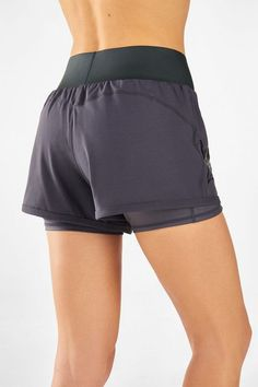Go on and glow for it in our high-shine run short, built with a compression underlayer, moisture-wicking fabric and internal pocket. Shorts Outfits Women, Short Outfits, Gym Shorts Womens, Girl Outfits, Workout Wear, Workout Shorts, Short Fitness, Underwear Pattern, Gymnastics Outfits