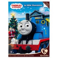 Thomas The Tank design Advent Calendar. Count down the days till Christmas with a chocolate a day, foiled for freshness and nut safe.