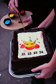Sachr se smetanovou náplní - Teeda Cake, Desserts, Tailgate Desserts, Deserts, Kuchen, Postres, Dessert, Torte, Cookies