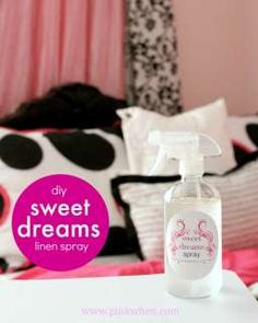 A wonderfully relaxing Sweet Dreams spray.  Now my little one is excited about bedtime! www.pinkwhen.com @pinkwhen