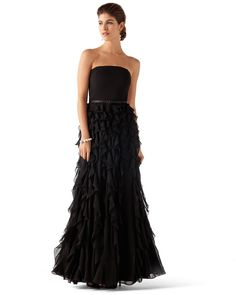 WATERFALL TIERED GOWN - White House | Black Market