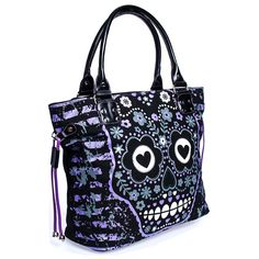 Banned » Banned Candy Skull Bag (Black/Purple ...