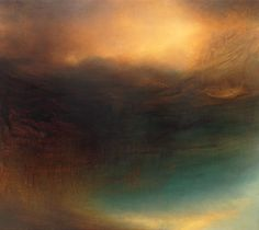 """Transmission, 60"""" x 68"""", oil, enamel, and shellac on canvas, 2012, by Samantha Keely Smith."""