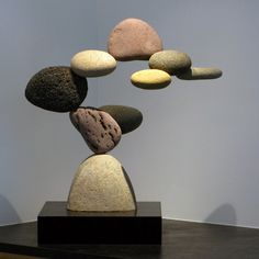 The Grand Illusion — Floating Stones Sculpture by Woods Davy Stone Crafts, Rock Crafts, Pebble Painting, Pebble Art, Rock Sculpture, Sculpture Garden, Rock And Pebbles, Driftwood Art, Stone Art