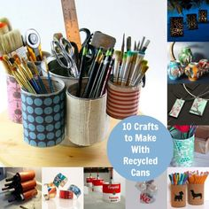 With Earth Day coming up in April, it seemed like the perfect time for a recycled can craft roundup.