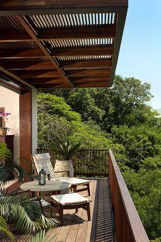Image 3 of 35 from gallery of SJA I House / CDM Casas de México. Photograph by Marcos Garcia Small Balcony Design, Terrace Design, Nachhaltiges Design, House Design, Design Ideas, Modern Design, Exterior Design, Interior And Exterior, Outdoor Spaces