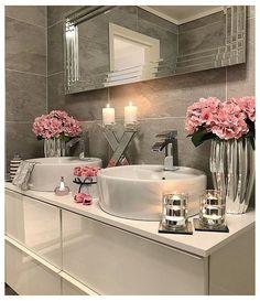 Modern Bathroom, Small Bathroom, Master Bathroom, Bathroom Ideas, Romantic Bathrooms, Bathrooms Decor, Modern Sink, Bathroom Grey, Luxury Bathrooms