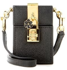 Dolce & Gabbana Dolce Box Mini Leather Shoulder Bag