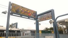 Street art spices up some of the new Expo line stops soon to open in Santa Monica.
