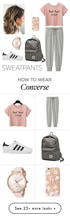 """Untitled #197"" by evelina-bikina on Polyvore featuring Uniqlo, Converse, adidas and Ted Baker"