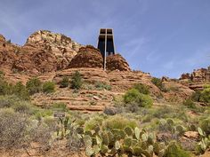 Church of the Holy Cross built by a Frank Lloyd Wright, Sedona, Ariz. Photograph by Carol M. Highsmith, May 3, 2009. Highsmith (Carol M.) Archive, Library of Congress Prints and Photographs Division.